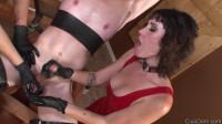 Milking Slave 666 (cock, tit, online).