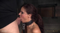 Big breasted sexy MILF Syren de Mer in relentless live action bound and throat trained by BBC!
