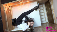 Schenja - Office girl stretches after work