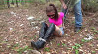 HunterSlair - Michelle - Tight bound and gagged she tried hopping away