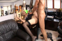 Dona takes a raging boner in her secretary ass