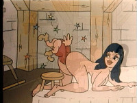 Adult cartoon with penises