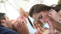 Gonzo Blowjobs & Cum Swapping With Perfect Babes