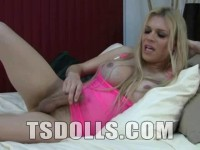 style playing lingerie - (Busty Blonde Shemale Playing With Her Cock)