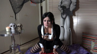MissMolly Wednesday Addams Cumshow