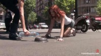 Best Of Europe: Beautiful Spanish redhead tied & fucked on the streets