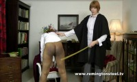 Danielle & Paradise have just been spanked and paddled but now Danielle as the senior girl is to be p