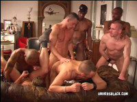 Amazing Interracial Orgy With Muscle Fuckers