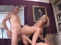 Download Old guy and two wild babes