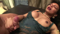 Rebequinha, curly tranny, fuck and cum! (07 May 2015)