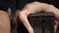 Bound and brutally deepthroated by 10 inch BBC & hardcore fucking!