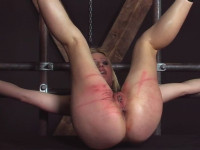 The blonde cruelly had in style BDSM