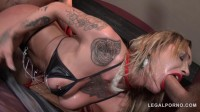 Beauty slut in hard dominated by 3 guys & double anal