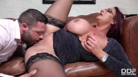 big tit milf in glasses fucked on sofa 720p