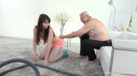 Old man makes sweetie kneel