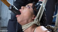 All Natural Ebony Newcomer in Brutal Bondage and Suffering Like a Pro!