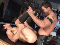 Rough Anal With Leather Fuckers