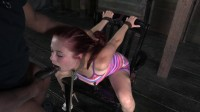 Penny Pax - Tiny little red head brutal deep throating bondage domination (2013)