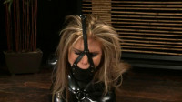Tight bondage, torture and hogtie for beautiful bitch in latex