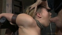 AJ Applegate shackled and blindfolded, facefucked! Mar 31, 2014