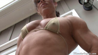 Muscle angel close up