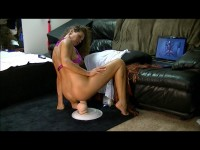 Dirty Wife ride Mr Big while watching a video of a fan jerking off to me (2014)