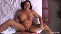 Curvy cougar GILF swinger does first porn — E311