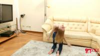 Tatjana - bending in hotel room
