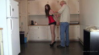 Amanda Reigh: Hogtied and Plug Gagged in the Kitchen
