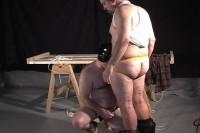 Fucking a fat slave