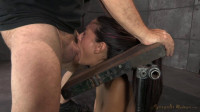 SexuallyBroken - Oct 08, 2014 - Sarah Shevon restrained and used hard from both ends by hard cock