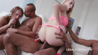 Russian Babes Gangbanged By Many Black Busters With Double Anal