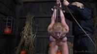 Big breasted blonde Darling trained for brutal deepthroat in headcage - showing, balls, brutal, leather, download