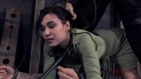 Tight bondage, strappado, spanking and torture for hot brunette