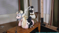 Olivia Rose Hogtied and Pump Gagged Tight