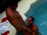 Michael & Johnny Suck Cock Poolside