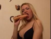 Dickgirl and a dildo