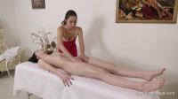 Glasha Belkina and her friend show us a massage