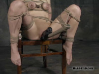 Hot bound women fucked and made to suck cock in tight rope bondage