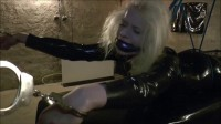 Rough Gag - blonde, bondage, latex