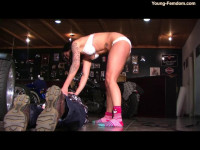 Young-femdom - In the bike store
