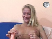 Cunt digging with dildo