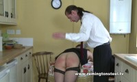 English-spankers — Janna has been caught by her husband bent