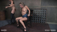 Kat Dior is handcuffed to a chair, face fucked, and vibrated to several screaming orgasms!