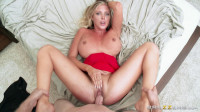 Busty Blonde In A Red And The Guy Mechanic