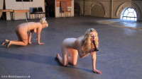 Super bondage, domination and torture for two naked blondes