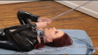 Bondage, domination and strappado for sexy girl in latex