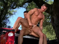 Outdoor sex with perfect nuscle fuckers