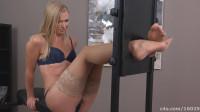 Ticklish feet in torment-tickle torture women