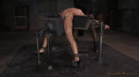 Exsotic newbee Mia Austin tightly baund in back arch, sybian orgasms, brutal messy deepthroat!